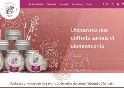 Nuala : création de logo, site e-commerce, outils de communication