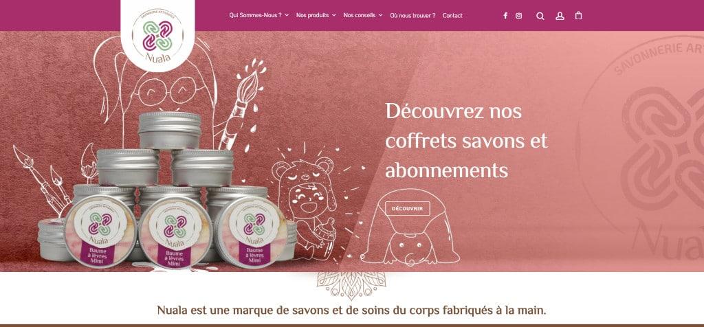 Nuala : création de site e-commerce, création de logo